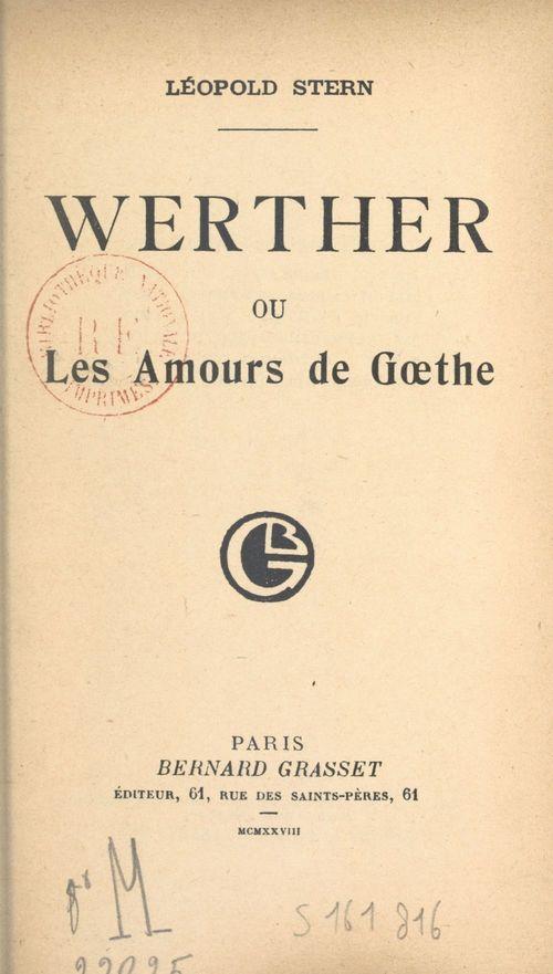 Werther  - Leopold Stern