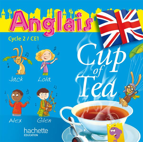 CUP OF TEA ; anglais ; CE1, cycle 2 ; double CD audio pour la classe (édition 2010)