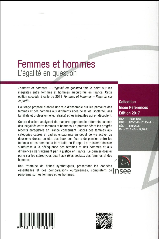 Femmes et hommes ; l'égalité en questions (édition 2017)