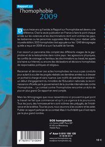 mariage gay, la France à la traîne ; rapport sur l'homophobie (édition 2009)