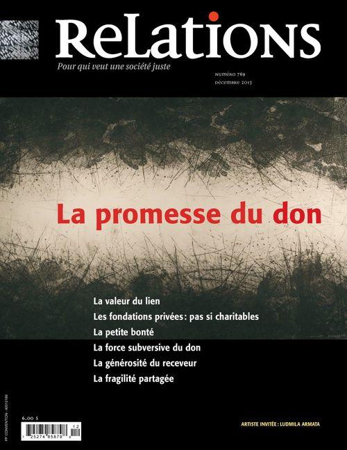 Relations. No. 769, Décembre 2013