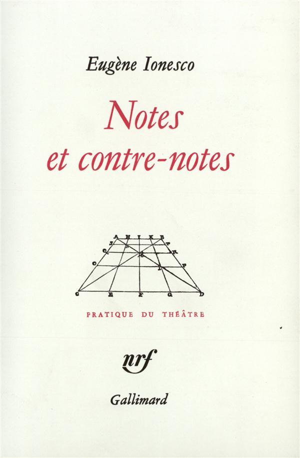 Notes et contre-notes