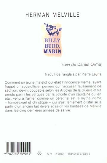 Billy Budd marin ; Daniel Orme