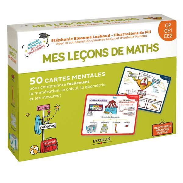 Mes leçons de math ; CP, CE1, CE2 ; 50 cartes mentales (édition 2018)
