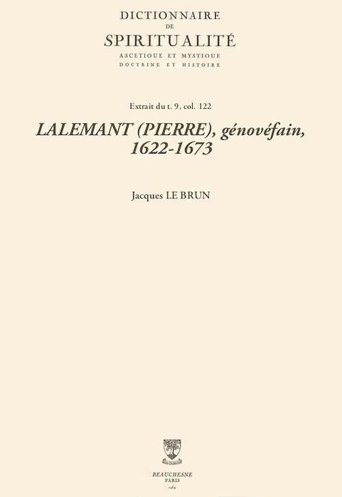 LALEMANT (PIERRE), génovéfain, 1622-1673