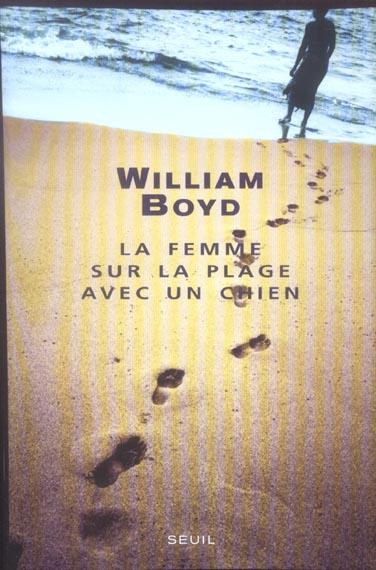 Femme sur la plage avec un chien (la)