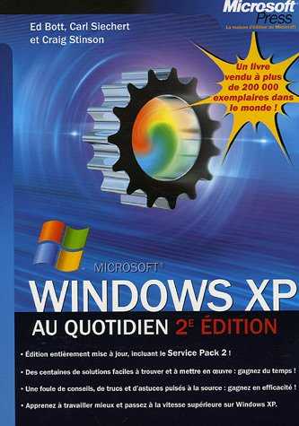 Windows Xp Au Quotidien - 2eme Edition - Au Quotidien