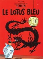 Couverture de Les aventures de tintin t.5 ; le lotus bleu