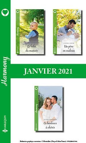 Pack mensuel Harmony : 3 romans (Janvier 2021)