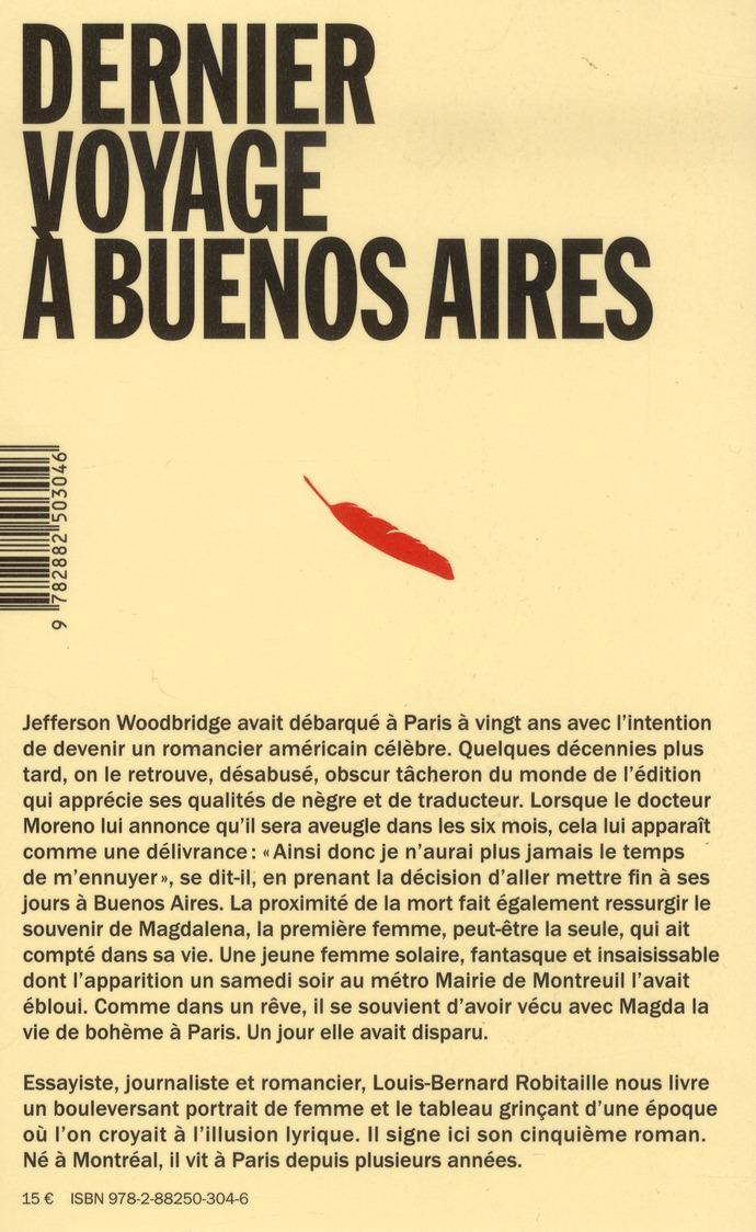Dernier voyage à Buenos Aires