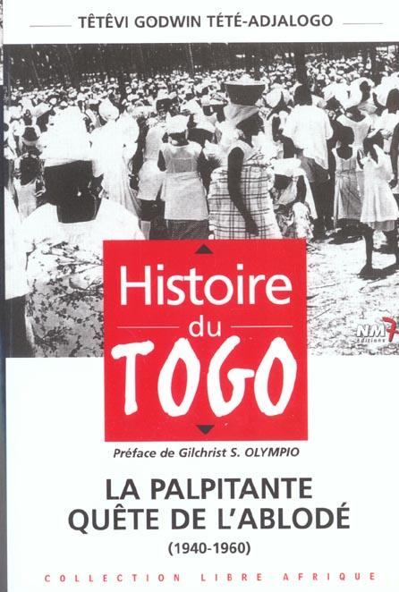 Histoire du togo t.1