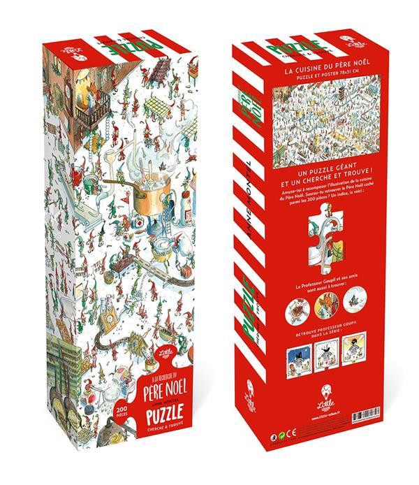 Puzzle gérant à la recherche du Père Noël ; la cuisine du Père Noël