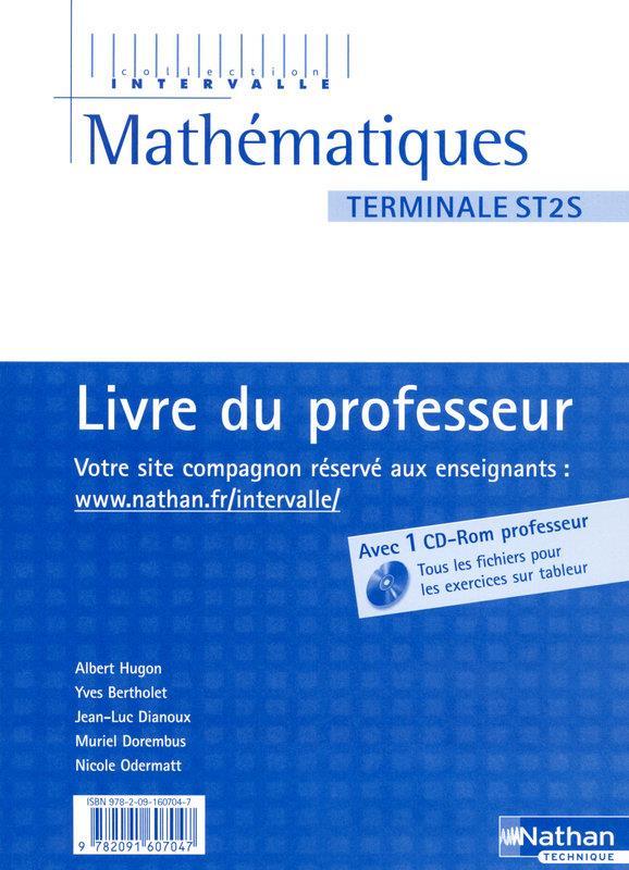 Mathématiques ; terminale ST2S ; livre du professeur (édition 2008)