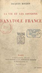 La vie et les opinions d'Anatole France