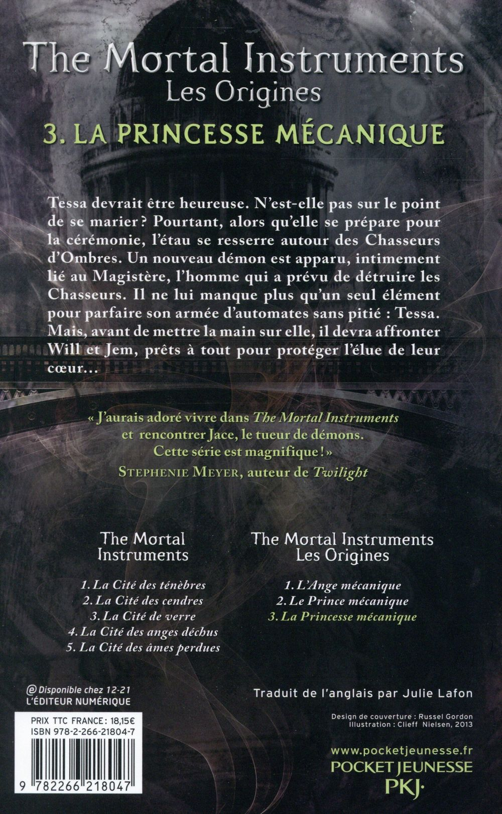 The mortal instruments - les origines T.3 ; la princesse mécanique