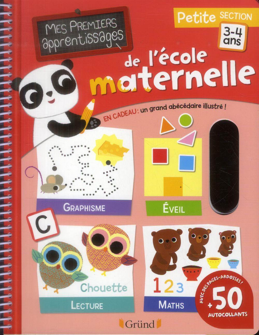 Mes premiers apprentissages de l'école maternelle ; petite section ; 3-4 ans