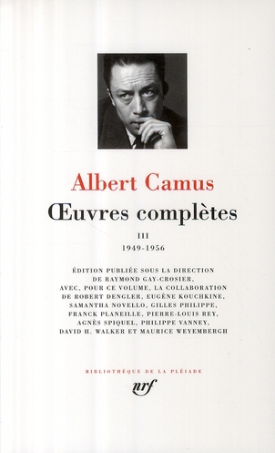 OEUVRES COMPLETES (TOME 3-1949-1956)
