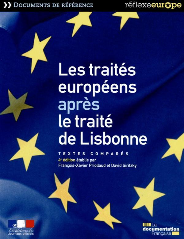 Les traités européens après le traité de Lisbonne ; textes comparés (4e édition)
