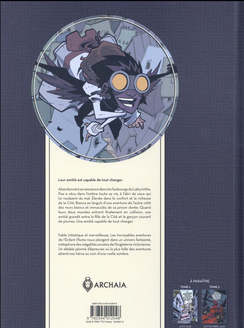 Les incroyables aventures de l'enfant plume T.1 ; le labyrinthe