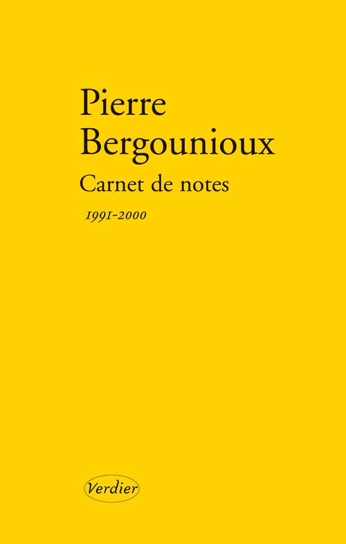Carnet de notes ; 1991-2000