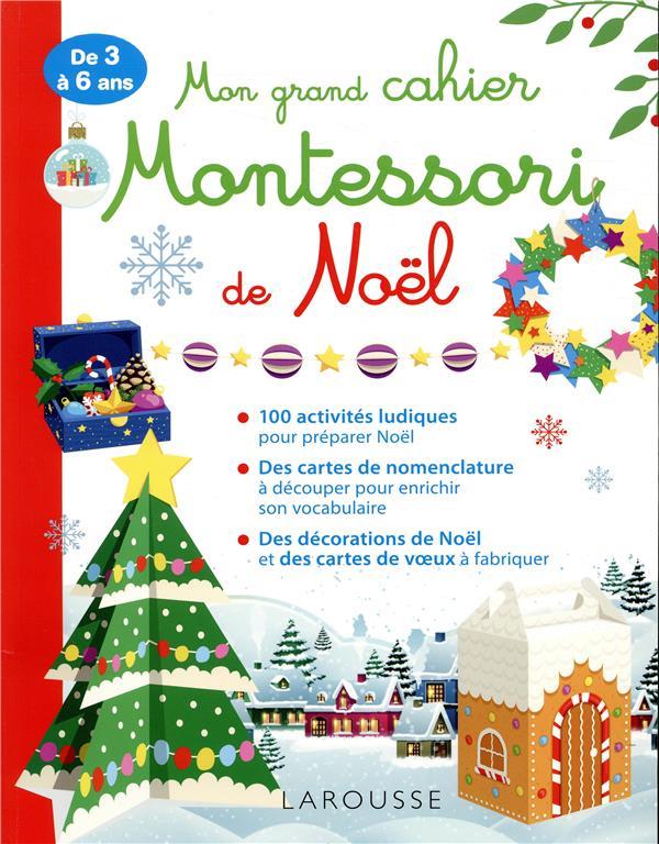 Mon grand cahier Montessori de Noël