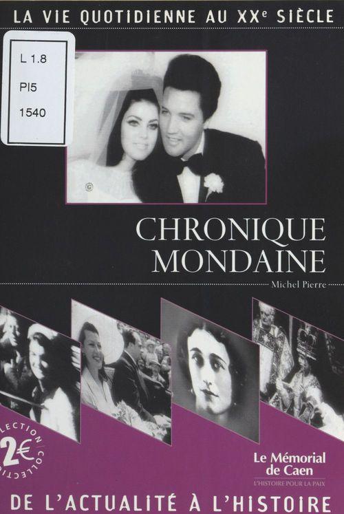 Chronique mondaine