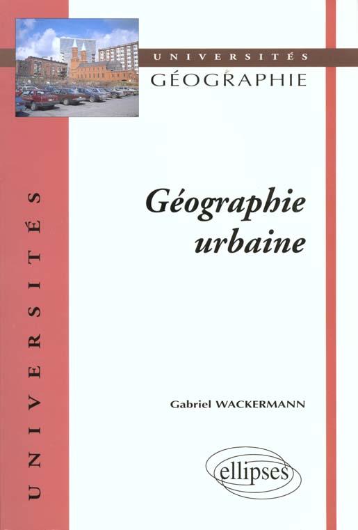 Geographie Urbaine