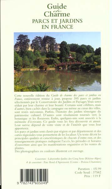 guide de charme parcs et jardins en france 1999