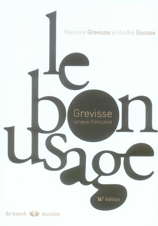 GRATUIT TÉLÉCHARGER GRATUITEMENT GREVISSE LE BON USAGE DE
