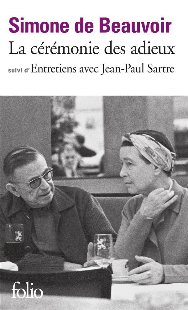 la cérémonie des adieux ; entretiens avec Jean-Paul Sartre