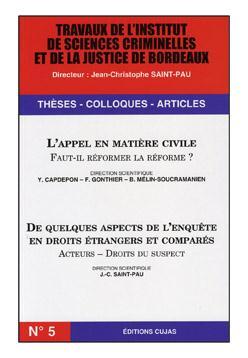 travaux de l'I.S.C.J. de Bordeaux t.5