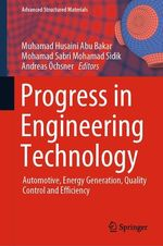 Progress in Engineering Technology  - Muhamad Husaini Abu Bakar - Mohamad Sabri Mohamad Sidik - Andreas Ochsner