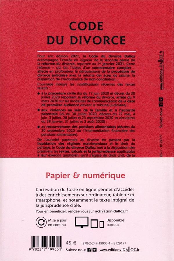 Code du divorce, annoté et commenté (édition 2021)
