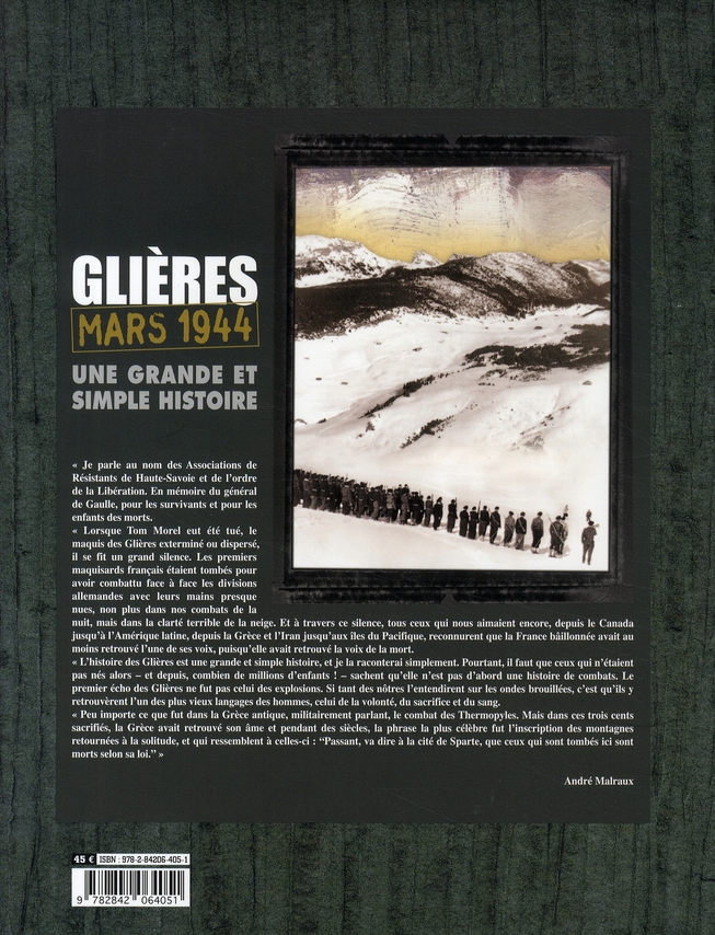 Glières, mars 1944 ; une grande et simple histoire