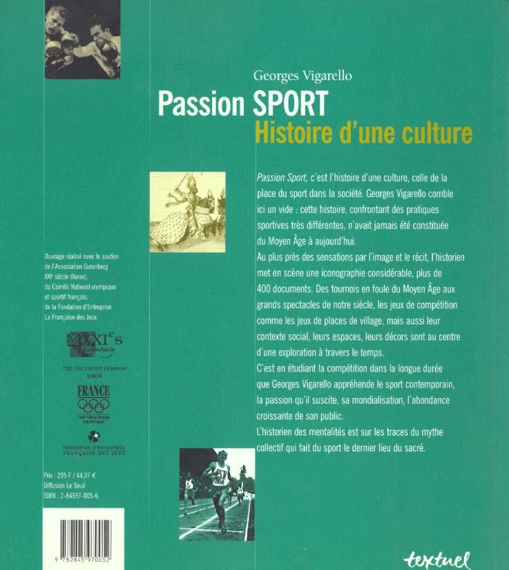 passion sport ; du Moyen Age à nos jours