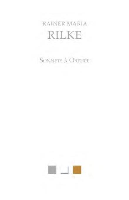 sonnets à Orphée