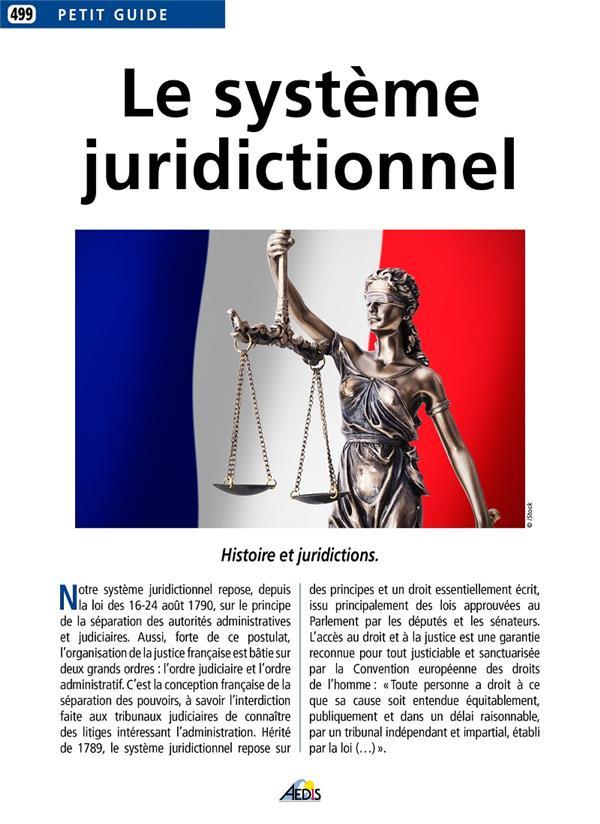 Le système juridictionnel