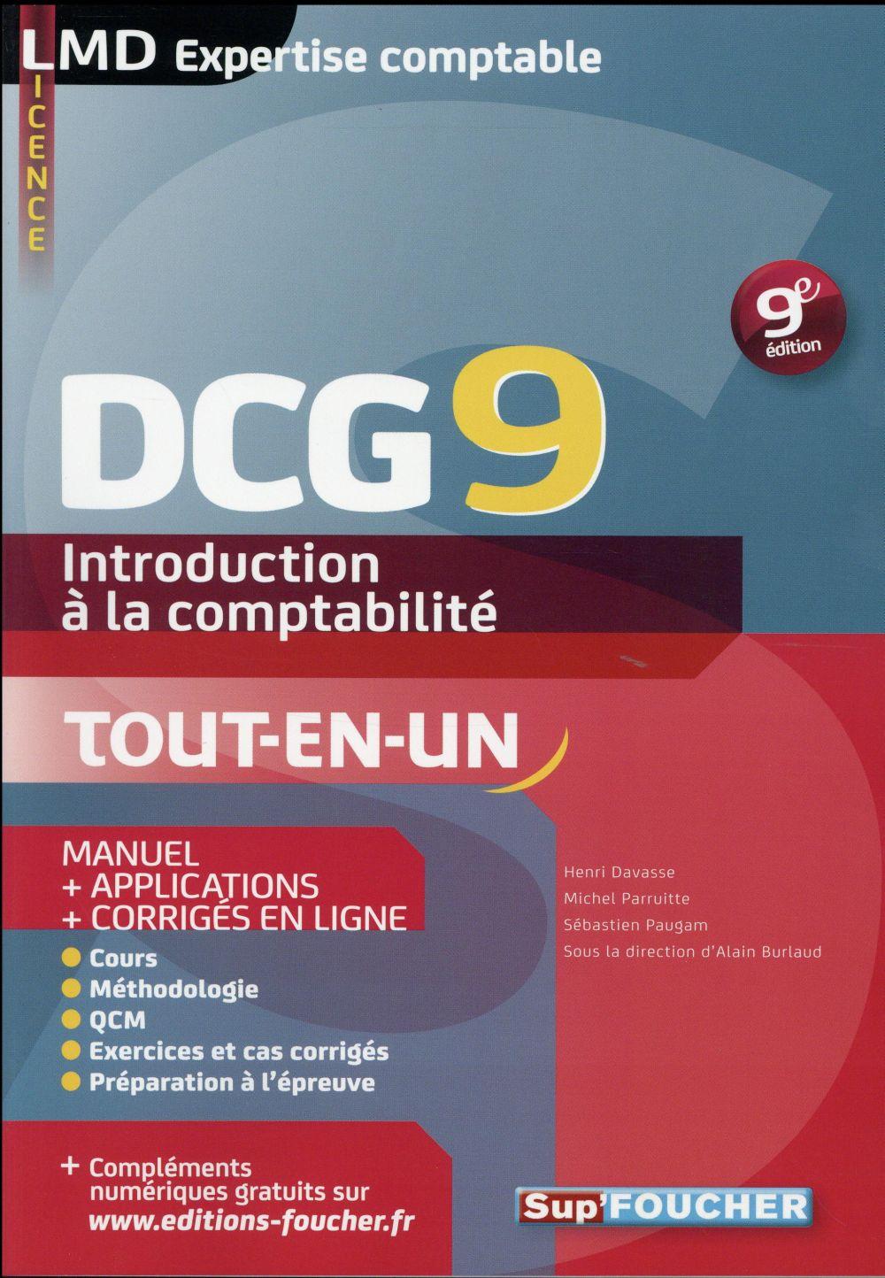 DCG 9 ; introduction à la comptabilité ; manuel (9e édition)