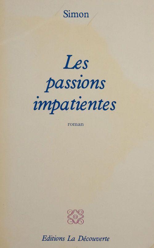 Vente EBooks : Les passions impatientes  - Simon