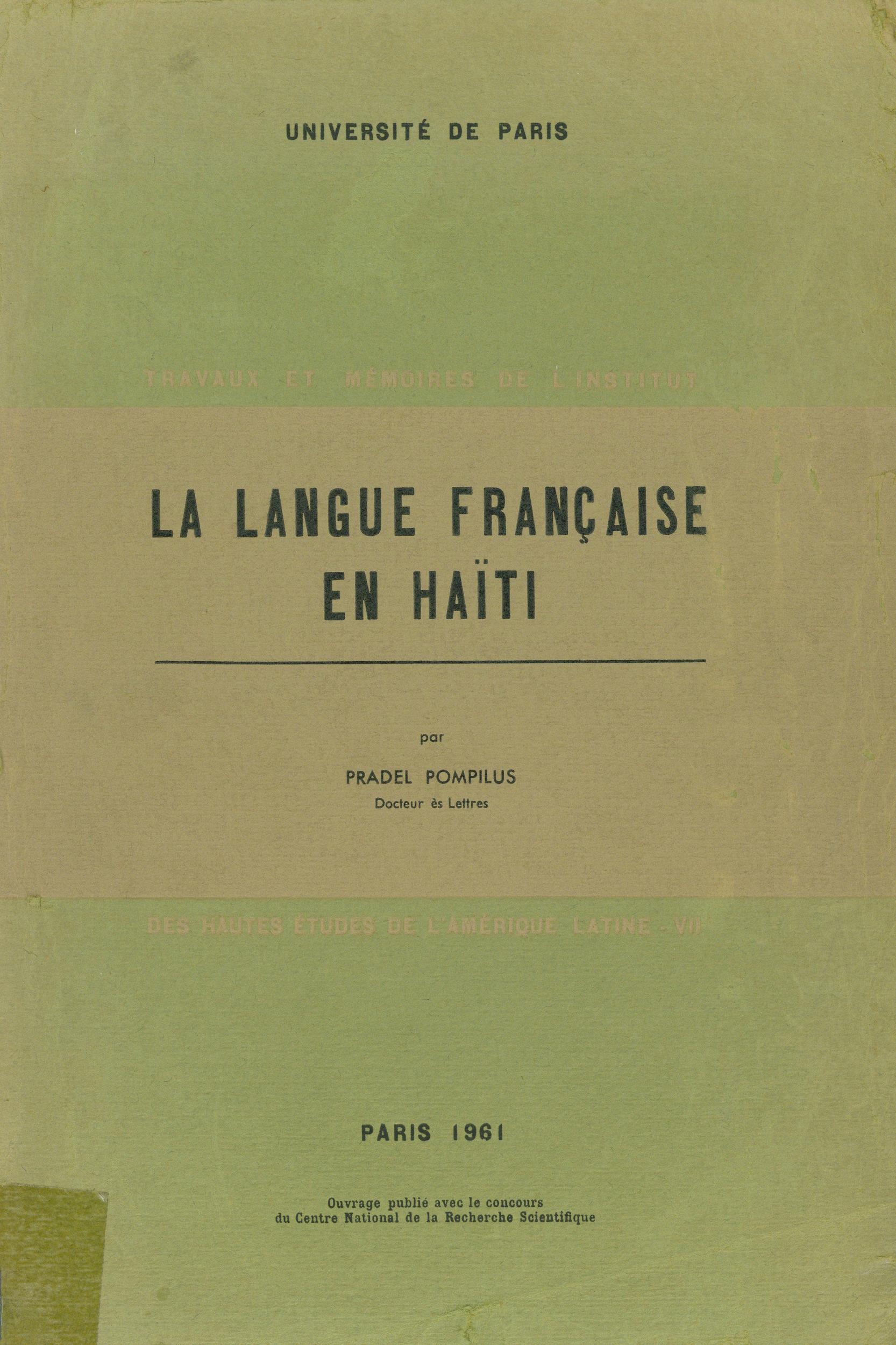La langue française en Haïti