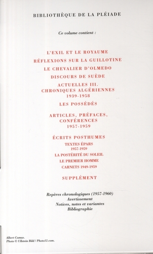 Oeuvres complètes t.4 ; 1957-1959
