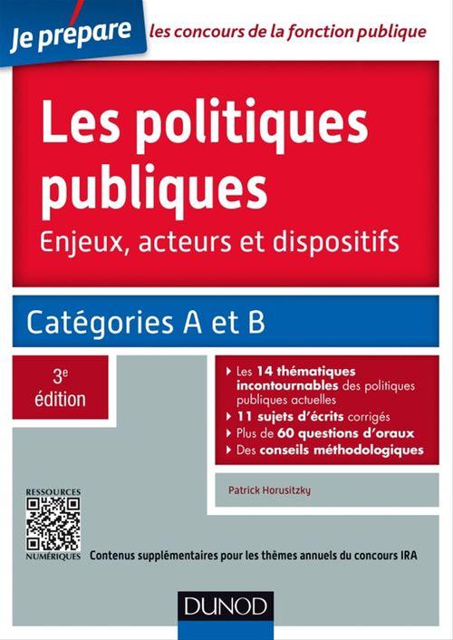 Vente EBooks : Les politiques publiques - 3e éd.  - Patrick Horusitzky