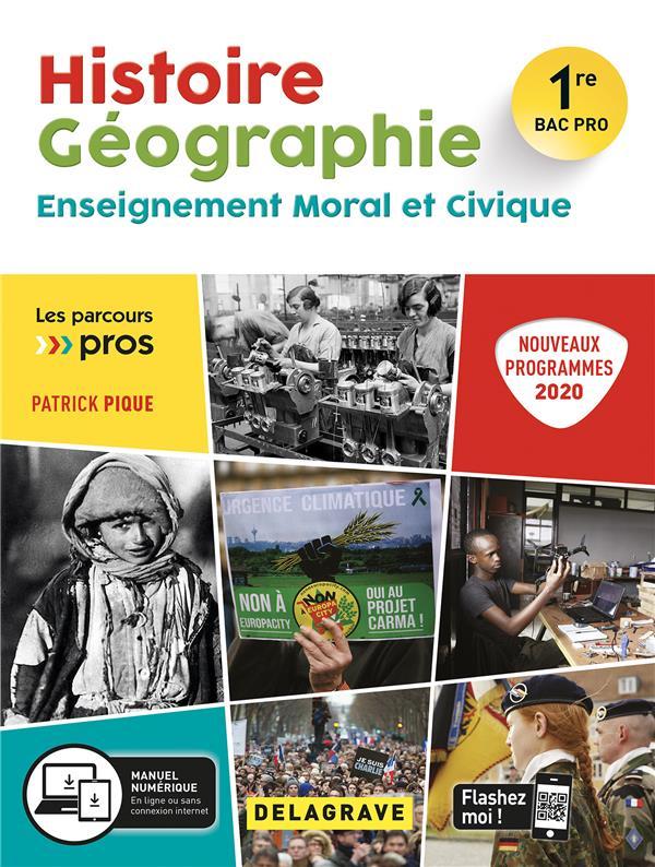 Histoire géographie EMC ; 1ere bac pro ;  pochette élève (édition 2020)