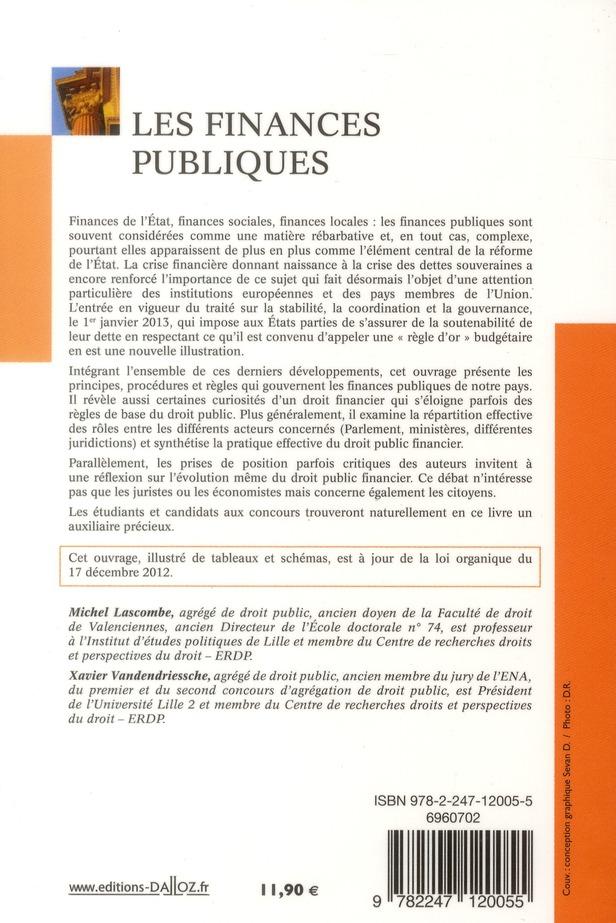 Les finances publiques (8e édition)