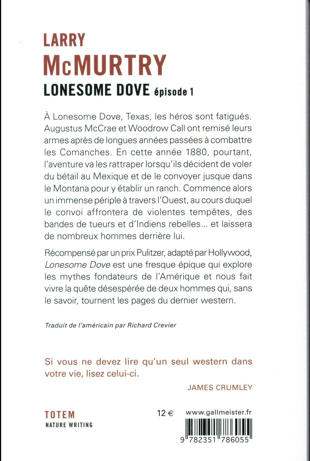 Lonesome Dove T.1