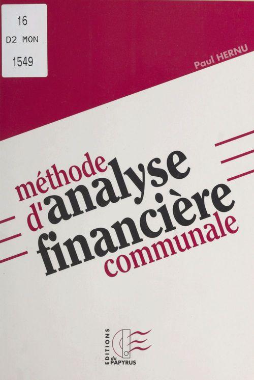 Méthode d'analyse financière communale