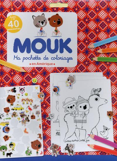 Ma pochette de coloriages ; Mouk ; en Amérique