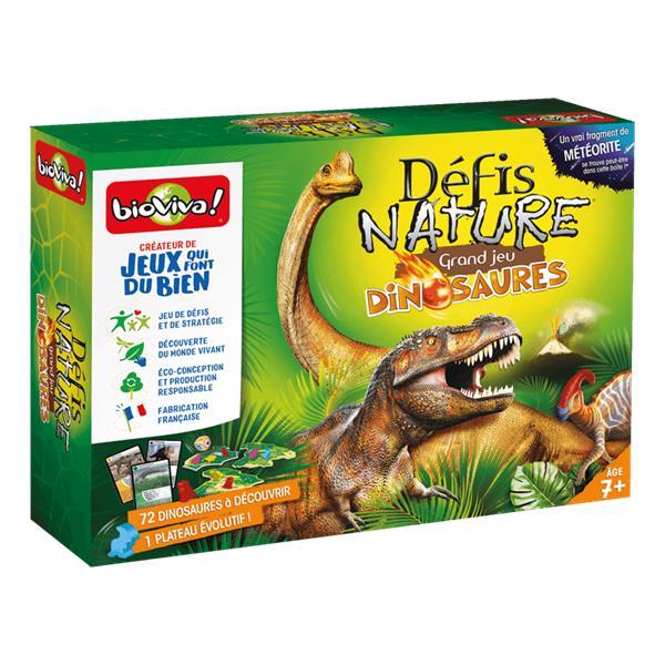 Défis nature ; le grand jeu défis nature ; dinosaures