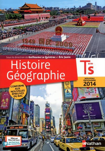 Histoire-géographie ; terminale S ; livre de l'élève (édition 2014)