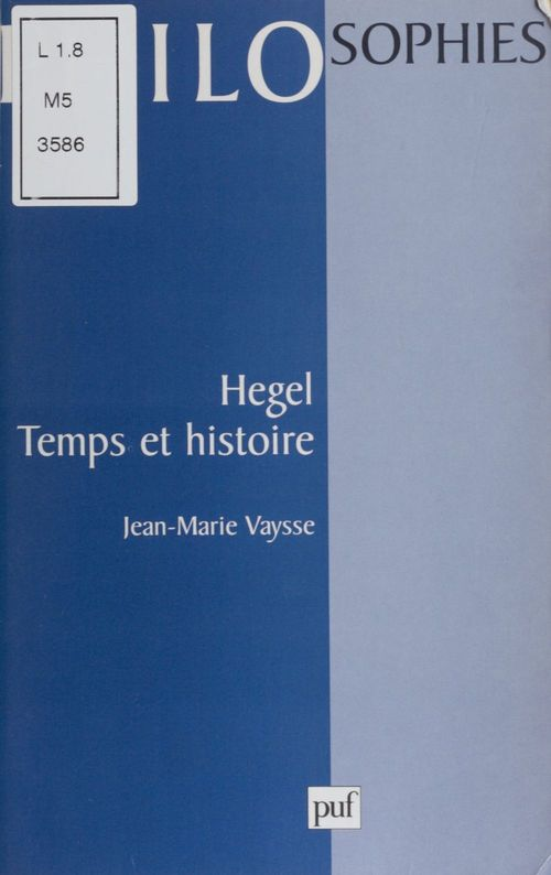 Hegel. temps et histoire